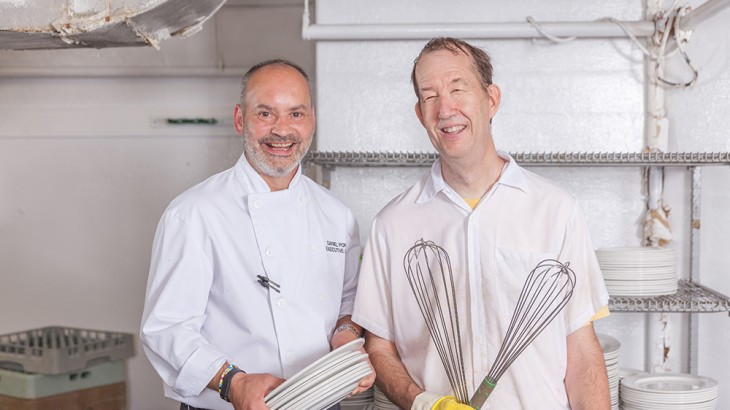 Daniel Ponte, Executive Chef and Brian Newton, Kitchen Steward, Liberty Grand Entertainment Complex