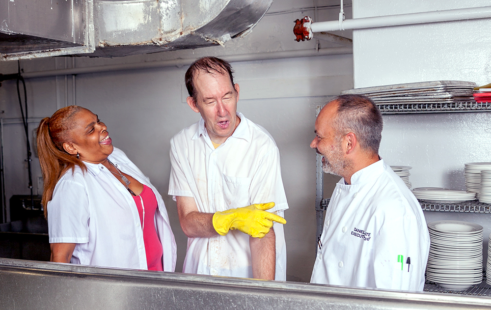 Ingrid Rochard, Stewardship Manager, Daniel Ponte, Executive Chef and Brian Newton, Kitchen Steward